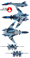 VF-19 Excalibur Aggressor by bagera3005