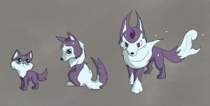 Wolf fakemon by Pink-Death-Pigeon