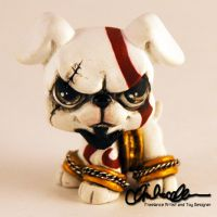 Kratos- the Dog of War custom LPS by thatg33kgirl