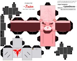 Cubee Klingon Care Bear by 7ater