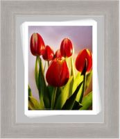 Framed Painted Tulip by Pixel2Portrait