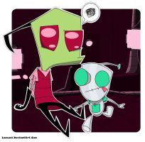Zim and Gir by Laasuzi