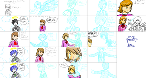 iScribble with my sis by EnzanBlues456
