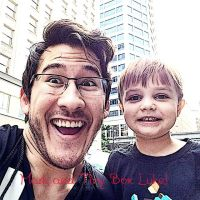 Markiplier And Tiny Box Luke! by LadySakuraAvalon