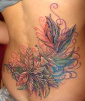 flowers in process by Rublev-tattoo