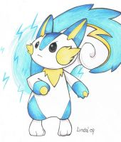 fakemon evo pachirisu by KayaaXx