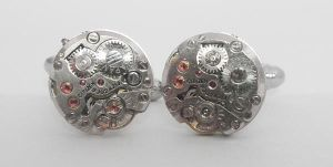 Steampunk Round Cufflinks by SteamDesigns