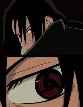 Itachi - Mangekyou Sharingan by TheSunriseMassacre