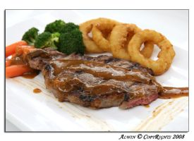 Main Dish: Steak w Onion Rings by otaru23