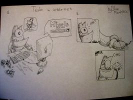 Teslo in internet by BlueMoshka