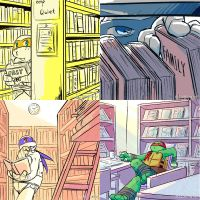 [practice]Turtles in library by RingingT