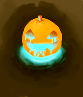 Pumkin's light by PaintBerryBird