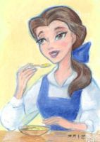 Belle Eating Breakfast by LEXLOTHOR
