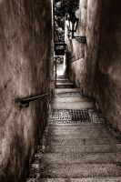 Narrow stairs by Yupa