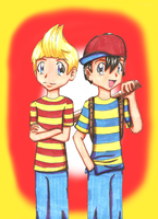 ..::Lucas and Ness::.. by bright-as-a-button