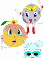 Mascot  Moon, Peach + Bubbles by GlitterQueen
