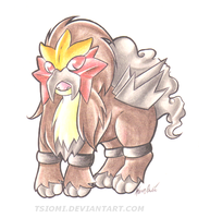 Chibi Entei by Tsiomi
