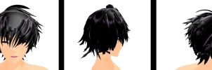 MMD.::MIX HandSome Hair DL::. by iinoone
