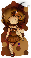 1920 Vintage OC Contest Entry: Amy Sepia by Syico