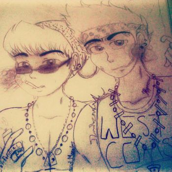 Urban Cholos Alexis And David by sisterz1679