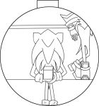 Sonic and Shadow Line art pt2 by Chibiko