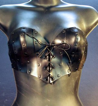 Leather Bustier by TomBanwell