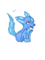 Fakemon: Water stater by BlakkHeart