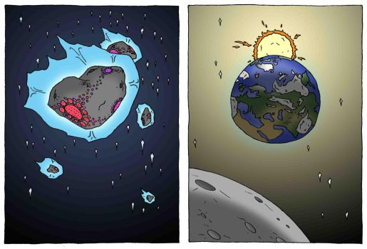 Animallum:  Alien Civ (The Goss Cloud) and Earth by Orbital-Primeval