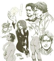 The Avengers-sketches-1 by Athew