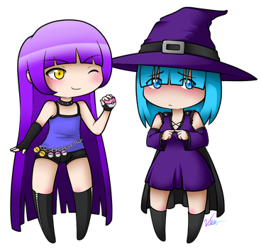 Commission: Cazu-chan and Danielle by Vellvette