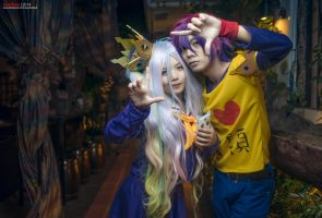 Sora and Shiro - No Game No Life by riskbreaker