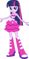 Twilight Sparkle Party Dress Vector by icantunloveyou