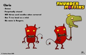Thunder Muffins - Chris and Boogers by AndrewKwan