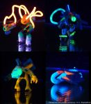 Black-light Minis 1 by BlackHoleInAJar