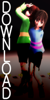 [MMD x Undertale] Frisk and Chara model DL by RubyRain19