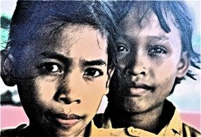 Two boys. Indonesia. by jennystokes