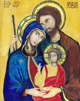 The Holy Family by Aodhagain