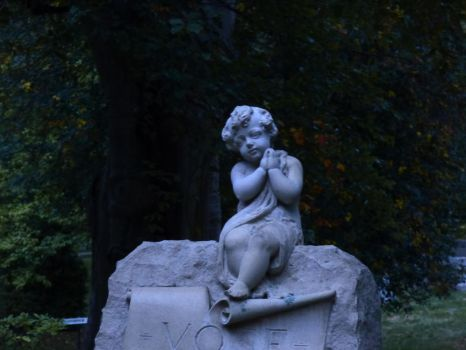 Cherub on headstone by sgath92