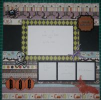 Halloween Scrapbook layout by debra-e