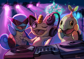 DJ Meowth by xTyma
