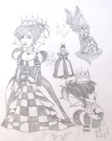 Wonderland  Black  Queen by DemonCartoonist
