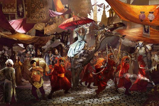 In The Market place by Hanged-man