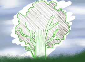 i-Pad Doodles: Tree by chichimi