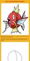 How to draw Magikarp Pokemon Tutorial by HowToDrawManga3D
