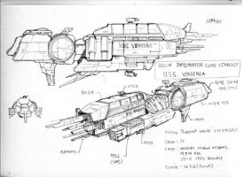 Infiltrator class Destroyer concept art - 1 by MartinPark