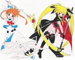 Fate + Nanoha by happily-random