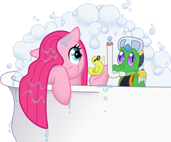 Pinkie Pie - Bath Time with Gummy by IphStich