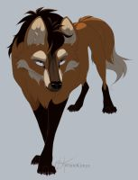 Maned wolf thing by WhiteKimya