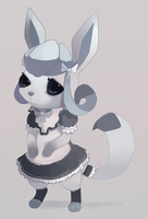 Glaceon Maid by HappyCrumble