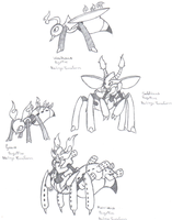 Fake Pokemon: Pyrant and Evos by Dragga